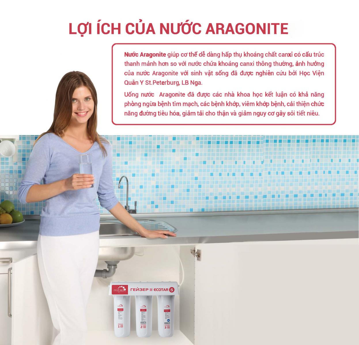 Lợi ích của việc dùng nước với công nghệ Aragon