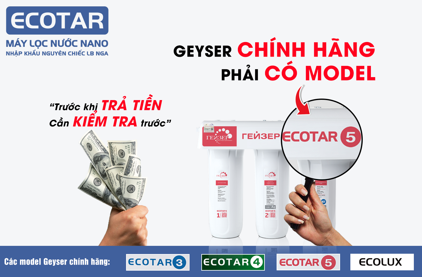 Cách kiểm tra sản phẩm Ecotar 5 chính hãng