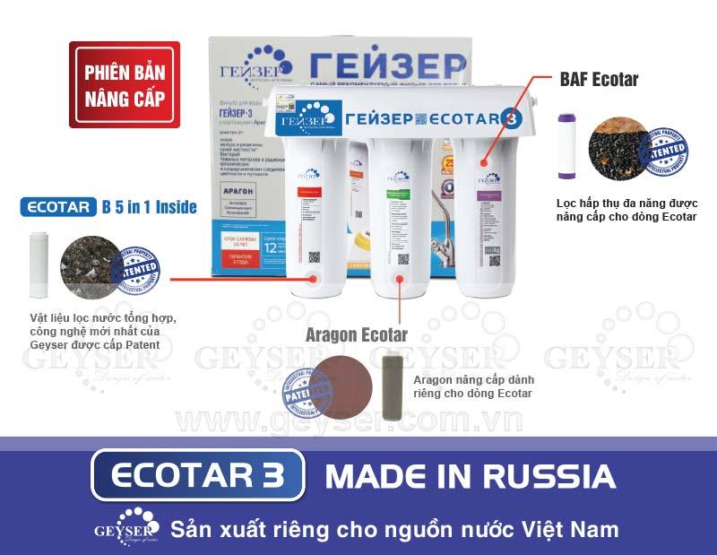 Máy lọc nước Geyser Ecotar 3 đặc biệt phù hợp với nguồn nước Việt Nam