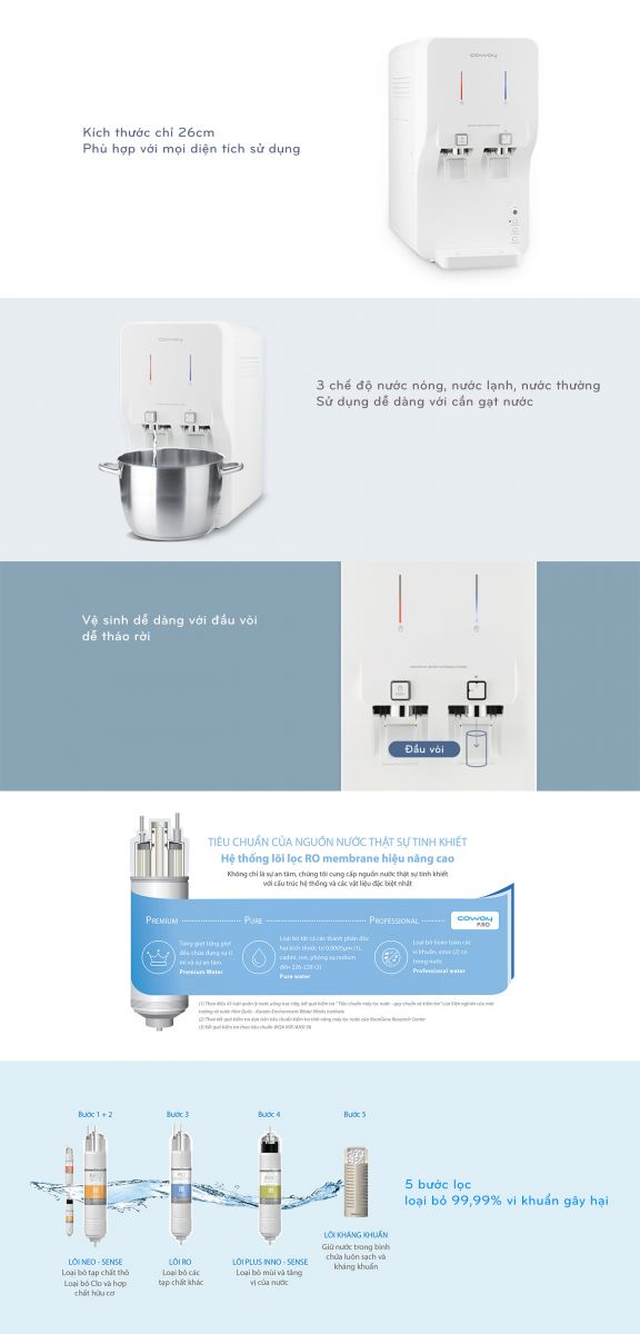 Máy lọc nước thông minh, cao cấp