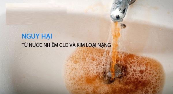 Nước nhiễm kim loại rất có hại