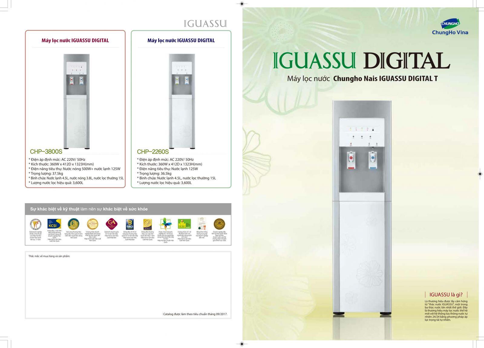 Tổng quan máy lọc Iguassu Digital