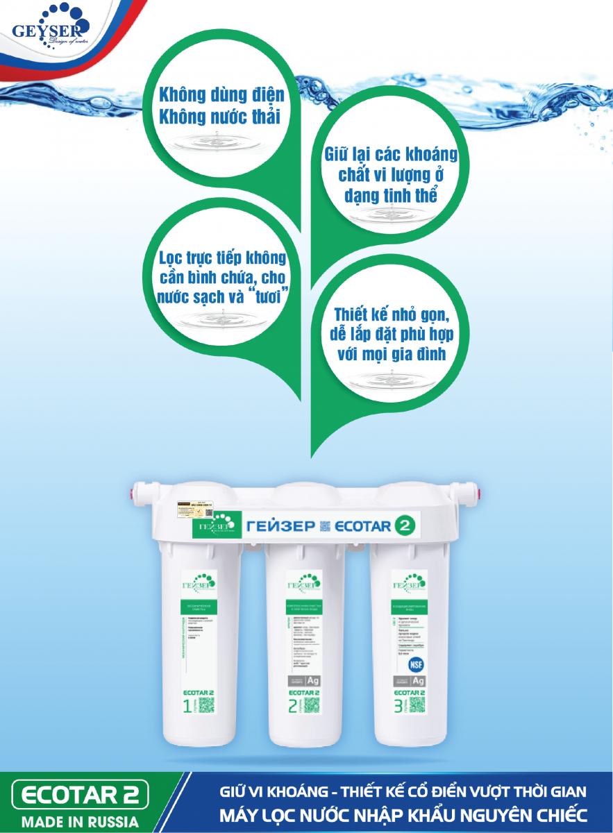 Ưu điểm máy lọc nước Ecotar 2